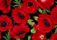 timeless treasures poppies large poppy red fabric Cozy New Poppy Quilt Fabric