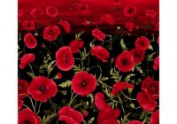 timeless treasures tuscan poppies sunset poppies 24 panel black Cozy New Poppy Quilt Fabric