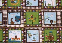 toddler quilt ba quilt kawaii owls quilt panel Unique Baby Quilt Panels To Sew