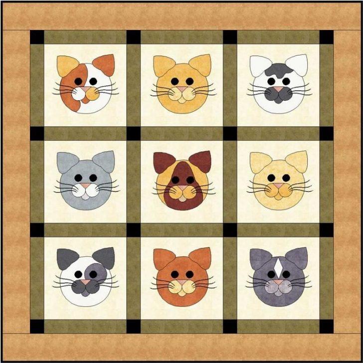 Permalink to Elegant Cat Applique Quilt Patterns
