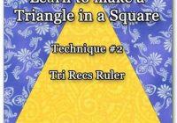 tri recs triangle ruler Unique Triangle Ruler For Quilting