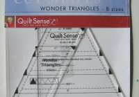 triangle quilt sense templates makes 2 12 to 6 squares 8 sizes marti michell ebay Cozy Quilt Sense Wonder Triangles Inspirations