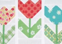 tulip quilt pattern free quilt patterns Make A Patchwork Tulip Quilt Block Patterns Gallery