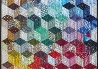 tumbling blocks finished quilt inspiration tumbling Modern Tumbling Blocks Quilt Pattern Gallery