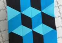 tumbling blocks quilt tutorial no y seams free motion Unique Tumbling Blocks Quilt Patterns