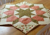 turn a swoon block into a table topper quilting digest Cool Quilted Table Topper Patterns Inspirations