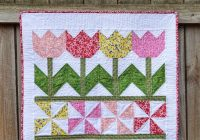 tutorial tulip time wall hanging inspired fabric Make A Patchwork Tulip Quilt Block Patterns Gallery
