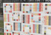 two simple blocks make this quilt quick and easy quilting Cozy Fast And Easy Quilt Patterns