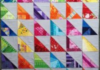 Unique 20 quilt ideas using half square scrappy triangles 9 New 1 2 Square Triangle Quilts