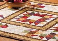 Unique autumn themed table topper is super easy quilting digest 9 Beautiful Table Topper Quilt Patterns