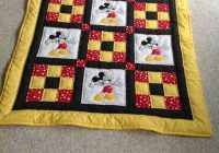 Unique ba quilt mickey mouse quilt redyellowblack polka dots 9 Cool Mickey Mouse Quilt Pattern