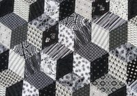 Unique bloggers quilt festival my tumbling blocks quilt New Black And White Quilt Patterns