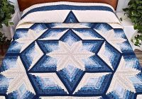 Unique blue and cream diamond star log cabin quilt log cabin 11 Cool Diamond Log Cabin Quilt Patterns Free Inspirations