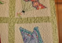 Unique butterfly quilt using handkerchiefs hankie butterfly 10 Beautiful Handkerchief Butterfly Quilt Pattern