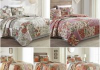 Unique chezmoi collection 3pc floral reversible patchwork 100 cotton vintage quilt set 11 Cool Vintage Quilt Bedding Inspirations