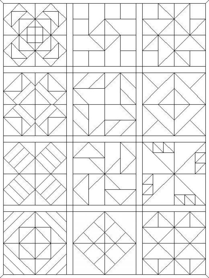 Permalink to 11 New Quilt Patterns Coloring Pages Inspirations