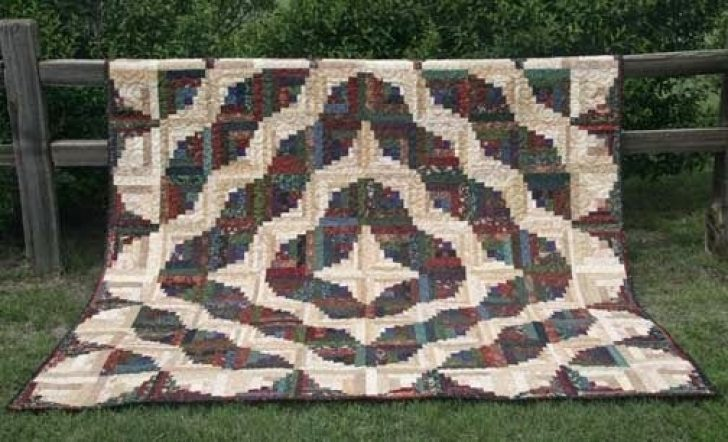 Permalink to 10 Interesting Curved Log Cabin Quilt Pattern