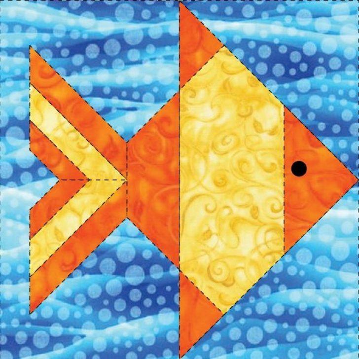 Permalink to 11 Unique Fish Quilt Block Pattern