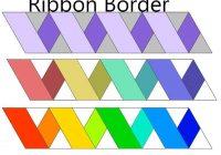 Unique free quilt pattern ribbon border i sew free panel quilt 10   Easy Quilt Border Patterns Inspirations