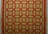 Unique garden maze antique quilt red and camel 9 New Garden Maze Quilt Pattern
