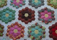 Unique grandmothers flower garden flower quilts grandmothers 9 Unique Flower Garden Quilt Pattern Inspirations