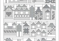 Unique house quilt pattern house quilt patterns house quilts 9 Unique House Quilt Block Patterns