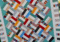 Unique jelly roll quilt pattern pickup sticks ba and throw sizes quick easy pdf instant download 11 Unique Jelly Roll Quilt Patterns