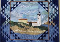 Unique lighthouse quilt horse quilt nautical quilt art quilts 9 Cool Lighthouse Quilt Patterns Gallery