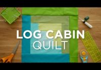 Unique make an easy log cabin quilt block quilt snips 9   Easy Log Cabin Quilt Pattern