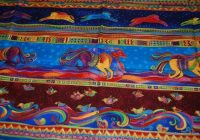 Unique p57 laurel burch horse running dancing horses quilt fabric 9 Cozy Laurel Burch Quilt Fabric