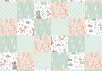 Unique patch quilt woodland nursery flannel fabric Modern Pre Quilted Fabric Joann Inspirations