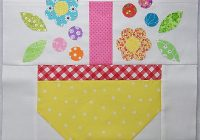 Unique podunk pretties scrappy spring basket quilt block tutorial 11 Interesting Basket Quilt Block Patterns Inspirations