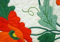 Unique poppies applique quilt mint sold cindy rennels antique quilts Cool Antique Applique Quilt Patterns