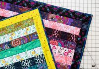Unique quilt as you go qayg strip quilt free sewing tutorial Interesting Easy Strip Quilt Patterns Gallery