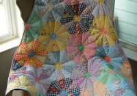 Unique this quilt brings a flower garden inside quilting digest 9 Elegant Wagon Wheel Quilt Pattern Gallery