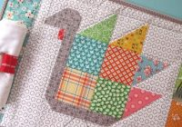 Unique tom turkey quilted placemats arent just for kids quilting 10 Modern Quilted Placemats Pattern