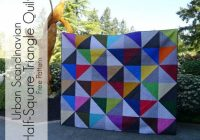 urban scandinavian modern half square triangle quilt pattern Elegant Half Square Quilt Patterns