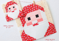 use this cute santa block in a variety of projects Santa Claus Quilt Patterns