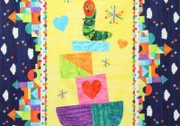 very hungry caterpillar ba quilt kit featuring fabrics eric carle for andover Unique Hungry Caterpillar Quilt Pattern