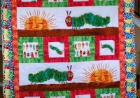 very hungry caterpillar quilted throw diy inspiration Unique Hungry Caterpillar Quilt Pattern