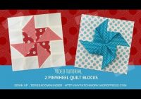 video tutorial 2 quick and easy pinwheels quilt blocks Stylish Easy Pinwheel Quilt Pattern Gallery