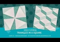 video tutorial triangle in a square quilt block quilt Elegant Triangle In A Square Quilt Block