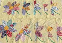 vintage applique quilt blocks 40s 50s cotton print fabric Stylish Vintage Applique Quilt Patterns Inspirations