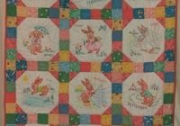 vintage ba embroidered crib quilt pattern bunny months Interesting Vintage Baby Quilt Patterns Inspirations