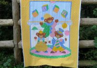 vintage ba quilt panel fabric panel crib Cozy Vintage Baby Quilt Panels Gallery
