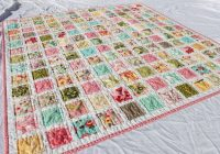 vintage ba quilt pattern with hunky dory fabric moda Interesting Vintage Baby Quilt Patterns Inspirations
