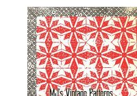 vintage christmas quilt pattern poinsettia ebay Christmas Quilt Pattern