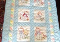 vintage embroidery ba quilt patterns ba blankets to hand Modern Vintage Baby Quilts Inspirations