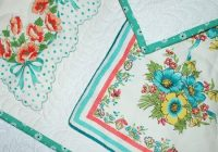 vintage hankie quilt only looks difficult quilting digest Unique Vintage Handkerchief Quilt Pattern Inspirations