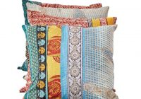 vintage kantha quilt pillow 9 Stylish Vintage Kantha Quilts Gallery